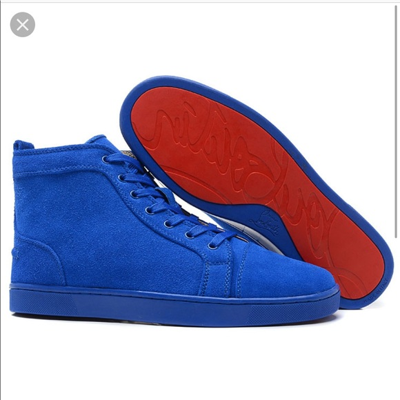 Christian Louboutin Men Sneakers Blue